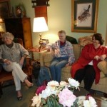 Book discussion at Diones home